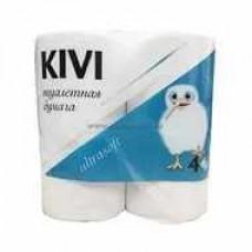 Туалетная бумага КИВИ  2-х слойная (4 шт) белая
