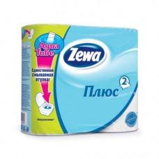 Туалетная бумага ЗЕВА 2-х слойная (4шт) белая