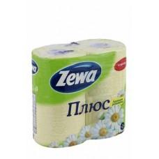 Туалетная бумага ЗЕВА 2-х слойная (4шт) ромашка