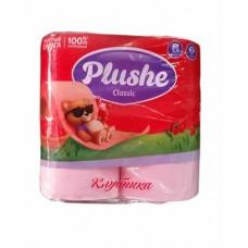 Туалетная бумага PLUSHE CLASSIC (4шт) клубника