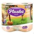 Туалетная бумага PLUSHE CLASSIC (4шт) абрикос