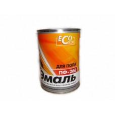 Краска ЭМАЛЬ ПФ266 -ЭКО- половая 0.9 красно-коричневая