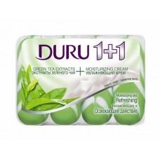 Мыло ДУРУ 1+1 (4*90 гр) ЭКОПАК зеленый чай