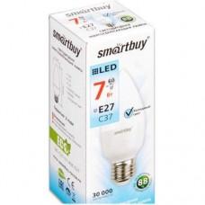 Лампа (LED) SMARTBUY 7 ВТ Е27 С37 6000К светодиодная