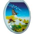 Сиденье ДЛЯ УНИТАЗА 65063 бабочка на цветке белая