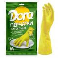 Перчатки DORA латексные универсальные размер M с хлопковым напылением