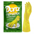 Перчатки DORA латексные универсальные размер S с хлопковым напылением
