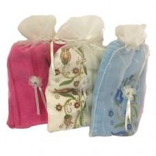 Полотенце МАХРОВОЕ 72188 50*90 Цветы в подарочном мешочке
