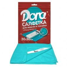 Салфетка из микрофибры DORA 30*30 см (1 шт) для мебели и бытовой техники