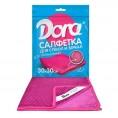 Салфетка из микрофибры DORA 30*30 см (1 шт) для стекол и зеркал