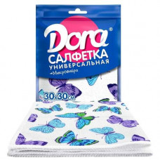 Салфетка из микрофибры DORA 30*30 см (1 шт) универсальная