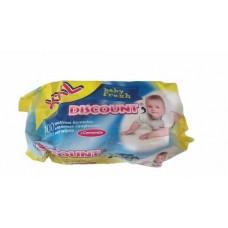 Салфетки ВЛАЖНЫЕ DISCOUNT 100 шт детские ромашка
