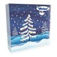 Салфетки VEIRO 3-слойные 20 шт шары на елке