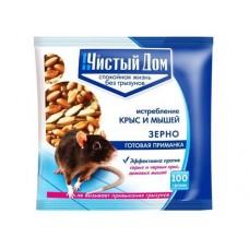 Приманка зерновая ЧИСТЫЙ ДОМ 50 гр от крыс и мышей