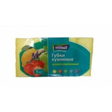 Губка для посуды HOUSEMAID 5 шт лимон