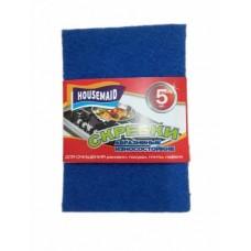 Губка для посуды HOUSEMAID 5 шт абразивная