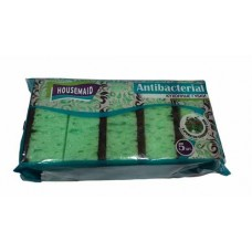 Губка для посуды HOUSEMAID 5 шт Antibacterial ароматизированные