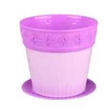 Горшок ЛАУРА 2 л М4580 фиолетовый
