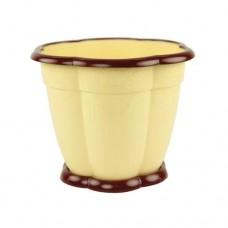 Горшок ВОСТОРГ 1.5 л светло-желтый, с подставкой М-1229