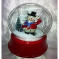 Сувенир СКАЗОЧНЫЙ ШАР со снегом с музыкой с подсветкой 12*18см 61811