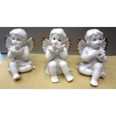 Сувенир 3 шт  АНГЕЛ 61781 керамика