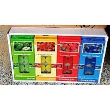 Свеча набор 12 шт фруктовый микс гильза 83576