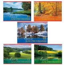 Альбом для рисования 24 л Hatber Русские просторы 101495
