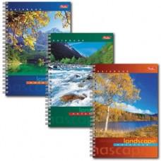Записная книжка А6 80 л Hatber Пейзажи лак карт.обложка 121455