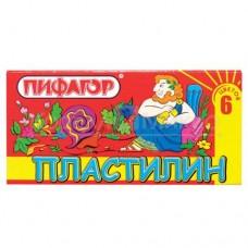 Пластилин 6 цветов ПИФАГОР 100970