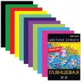 Бумага ЦВЕТНАЯ 16 л 8 цветов BRAUBERG двухсторонняя мелованная 124788