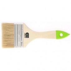 Кисть ПЛОСКАЯ СИБРТЕХ 75 мм с деревянной ручкой 82265