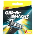 Кассеты GILETTE MACH3 8 шт