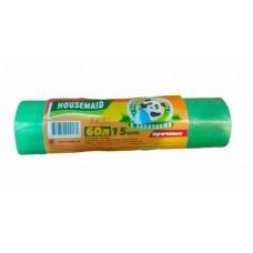 Мешок для мусора 60 л 15 шт HOUSEMAID с завязками