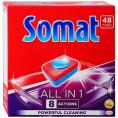 Таблетки SOMAT 48 шт ALL IN ONE для мытья посуды в посудомоечных машинах