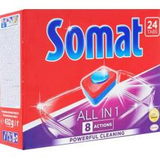 Таблетки SOMAT 24 шт ALL IN ONE для мытья посуды в посудомоечных машинах