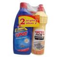 Чистящее средство КРОТпрофессионал гель от засоров 1 л + ЧИСТОЛЮБ гель антижир 5