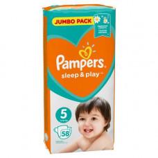 Подгузник PAMPERS SLEEP & PLAY junior 11-16 кг (58 шт) № 5