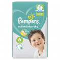 Подгузник PAMPERS ACTIVE BABY DRY 13-18 кг (16шт) №6