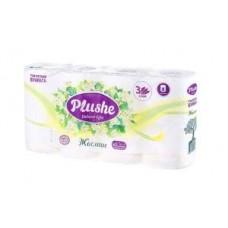 Туалетная бумага PLUSHE DELUXE LIGHT 3-х слойная (8 шт) жасмин