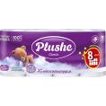 Туалетная бумага PLUSHE CLASSIC (8шт) белая