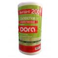 Полотенце бытовые DORA 200 шт 20*25 см вискозные рулон