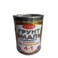 Краска ГРУНТ ЭМАЛЬ 4 в 1 шоколад 0.9 кг