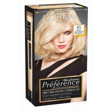 Краска для волос LOREAL ПРЕФЕРАНС 03 светло-светло-русый пепельный
