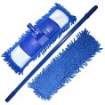 Швабра DORA шенилл с телескопической ручкой с насадкой из микрофибры синяя 2002-