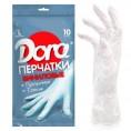 Перчатки DORA виниловые одноразовые размер M