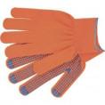 Перчатки нейлоновые 13 класс с ПВХ точка оранжевый размер L