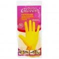 Перчатки HOUSEHOLD латексные желтые ХL хлопк. напыление