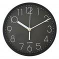 Часы НАСТЕННЫЕ кварцевые CL-009 черные 30 см