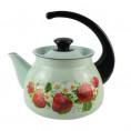 Чайник ЭМАЛИРОВАННЫЙ 3 л Б-СВ 42715-123-6 сф. салатовый