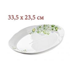 Блюдо ОВАЛ 330 6с2573ф34 цветы травы зел